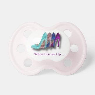 Glitter High Heel Shoes Fashion baby Girl Pacifier