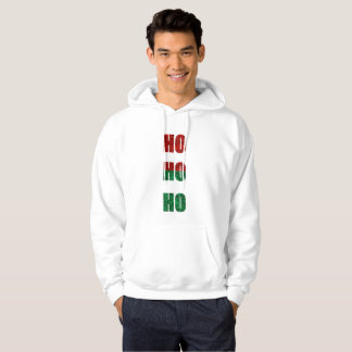 glitter ho ho ho mens hooded hoodie sweatshirt