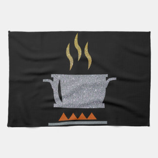 Glitter Hot Pot Kitchen Towel