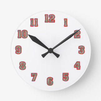 Glitter in Red Clock Template