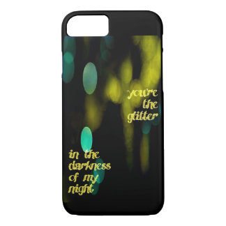 Glitter in the darkness iPhone case