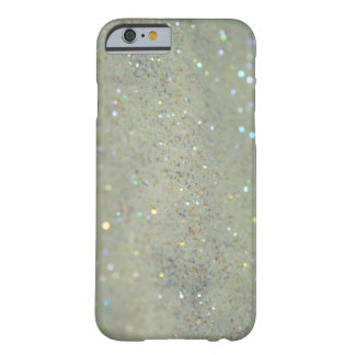 Glitter iPhone 6 case close up cream Barely There iPhone 6 Case