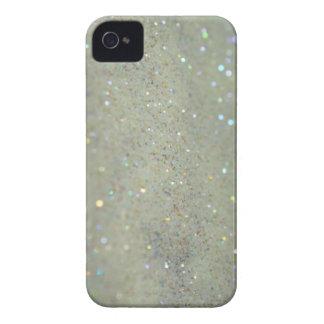 Glitter iPhone case close up cream