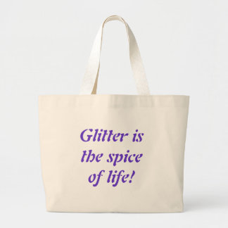 Glitter is the spice of life! tote bag