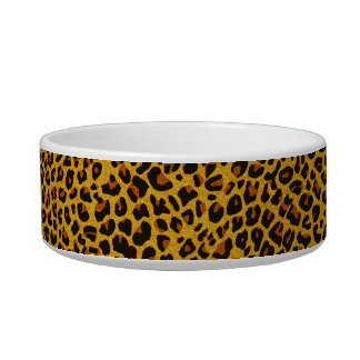 Glitter Jaguar Print Custom Cat Bowl