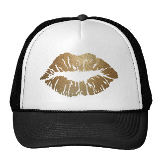 Glitter Kiss Lipstick Cosmetics Beauty Love Trucker Hat