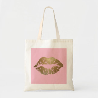 Glitter Kiss Pink Tote Bag