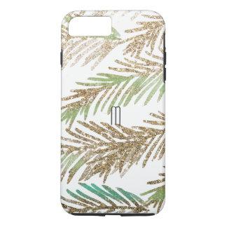 Glitter Leaves iPhone 8 Plus/7 Plus Phone Case