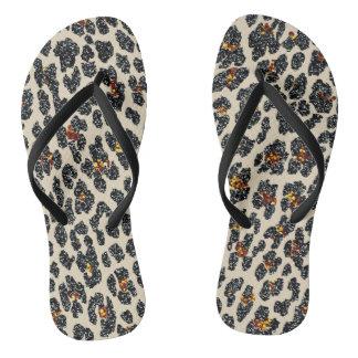 Glitter Leopard Flip Flops