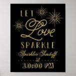 Glitter Let Love Sparkle | Sparkler Send Off Poster