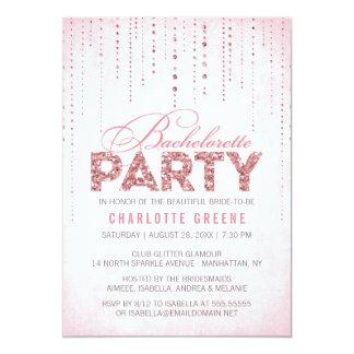 """Glitter Look Bachelorette Party Invitation 5"""" X 7"""" Invitation Card"""