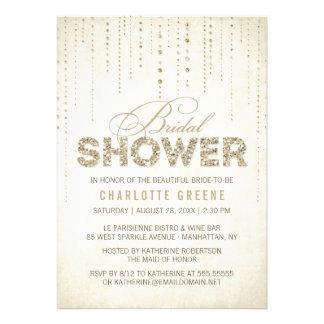 Glitter Look Bridal Shower Invitation