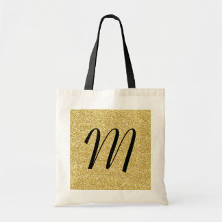 Glitter-look Disco Monogram Tote