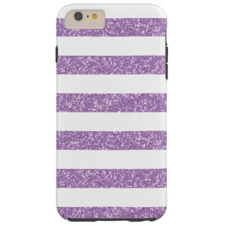 Glitter Look Stripes iPhone 6 Plus Tough Case