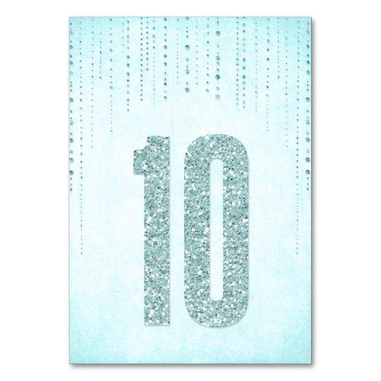 Glitter Look Wedding Table Numbers - 10