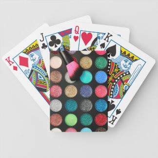 Glitter Makeup Bicycle Cards