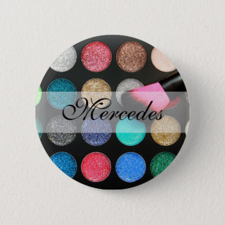 Glitter Makeup Button