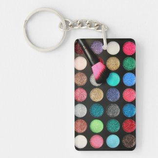 Glitter Makeup Keychain