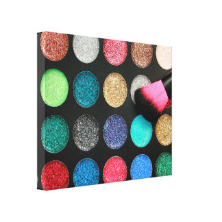 Glitter Makeup Stretched Canvas Print