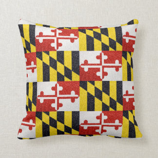 Glitter Maryland flag square pillow