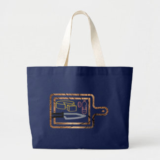 Glitter meat and Cheese Board Large Tote Bag