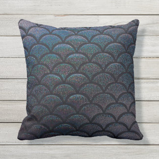 Glitter mermaid pattern Pillow