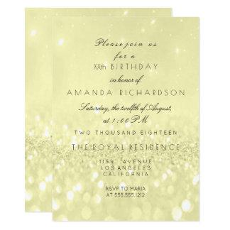 Glitter Minimal Yellow Sulfite VIP Bridal Birthday Card