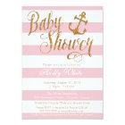 Glitter Nautical Girl Baby Shower Invitation