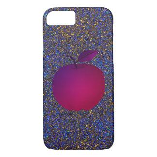 Glitter Night Purple Apple Fruit Glamour Girly iPhone 8/7 Case
