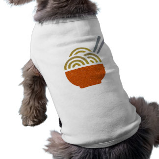 Glitter Noodle Soup Doggie Ribbed Tank Top