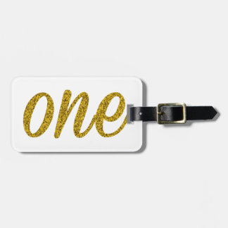 Glitter Number ONE (1) Luggage Tag