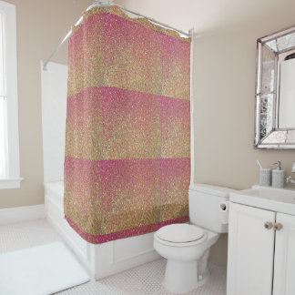 Glitter Ombre Shower Curtain