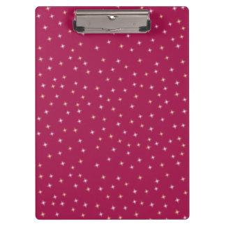 Glitter on Pink Clipboard