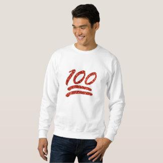 glitter one hundred emoji mens sweatshirt
