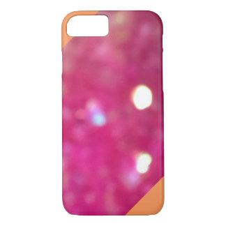 Glitter Orange Striped iPhone 7 case