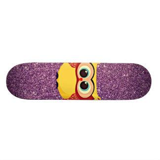 Glitter Owl Skate Deck