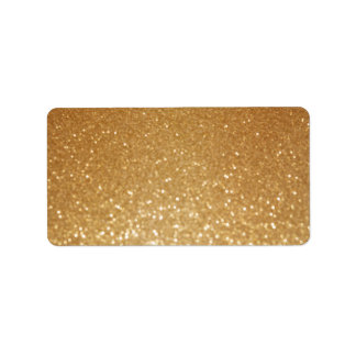 glitter paint gold artsy craft address label