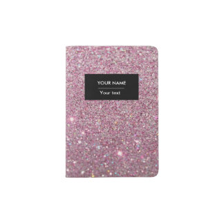Glitter Passport Holder