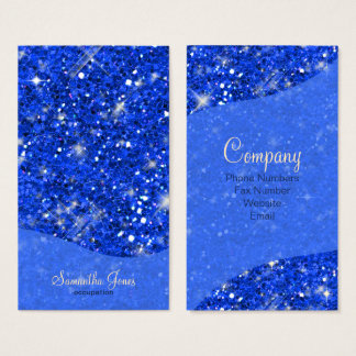 Glitter Pattern Blue ID144 Business Card