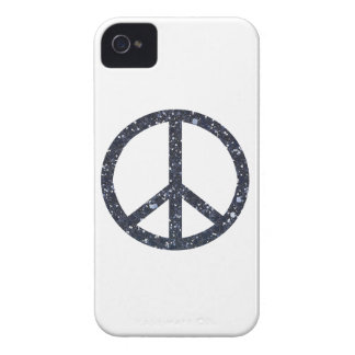 Glitter Peace Sign iPhone 4 Case-Mate Case