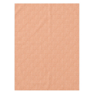 Glitter Peach Polka Dots Tablecloth