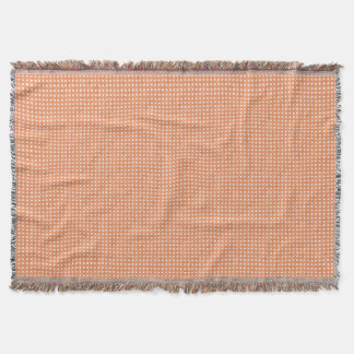 Glitter Peach Polka Dots Throw Blanket