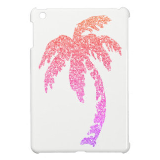 Glitter Pink Coral Purple Palm Tree iPad Mini Case