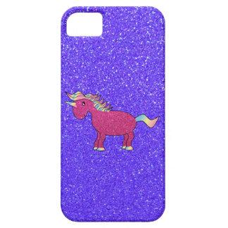 Glitter pink unicorn iphone 5 case