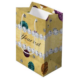 Glitter Polka Dots and Diamonds Medium Gift Bag