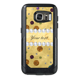 Glitter Polka Dots and Diamonds OtterBox Samsung Galaxy S7 Case