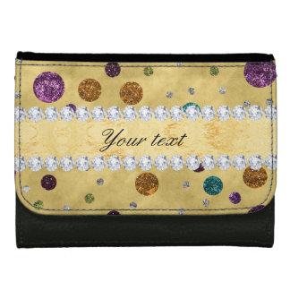 Glitter Polka Dots and Diamonds Wallet