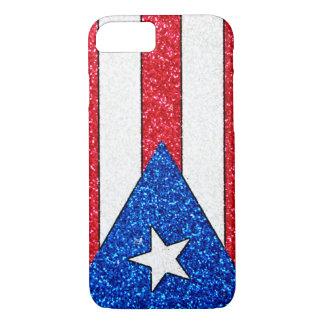 Glitter Puerto Rico flag iPhone 7 case