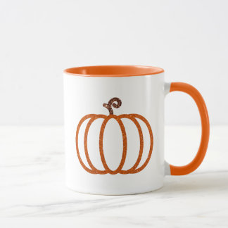 Glitter Pumpkin Items Mug