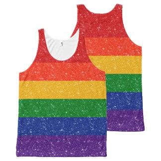Glitter Rainbow Pride Flag All-Over-Print Tank Top